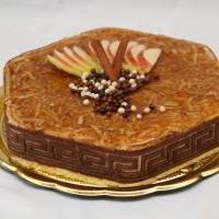 Jablečný smetanový dort se skořicí